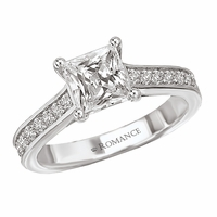 18K Trellis Princess Cut Engagement Ring .34ctw