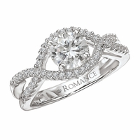 18K Twist Diamond Engagement Ring .24ctw Romance Collection