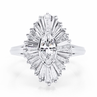 18K White Gold & Diamond Ballerina Ring - 2.60ctw