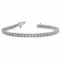 18K White Gold & Diamond Tennis Bracelet - 4 carats