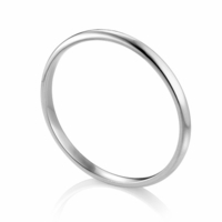 2mm Wide Palladium Wedding Band by ArtCarved