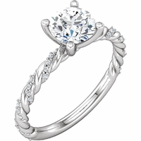 .50ct Simple Twist Engagement Ring