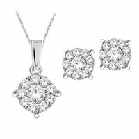 .50ctw Diamond Earrings & Pendant Set