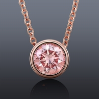 .55ct Fancy Pink Diamond Necklace set in 14K Rose Gold