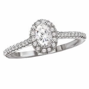 .64ctw Oval Diamond Halo Engagement Ring