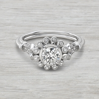 .68ctw Flower Halo Engagement Ring