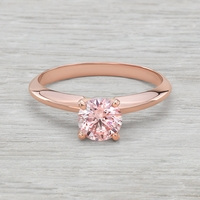 .72ct Pink Diamond Rose Gold Solitaire