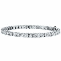 8 Carat Diamond Line Tennis Bracelet in 14K White Gold