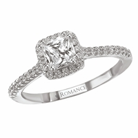 .82ctw Asscher Diamond Halo Engagement Ring