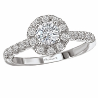 .82ctw Round Diamond Halo Engagement Ring