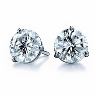 .85ctw Diamond Stud Earrings, F color, SI2, Ideal Cut