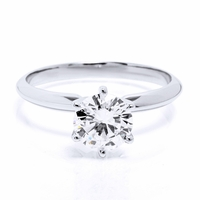 .91ct Round Brilliant Diamond E / SI1, HEARTS & ARROWS Solitaire Ring