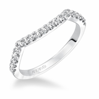 ADEENA ArtCarved Diamond Wedding Band