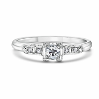Emely - Vintage Platinum & Diamond Engagement Ring
