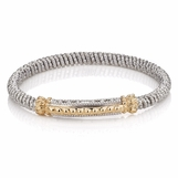 Vahan Sterling Silver and 14K Gold Bracelet