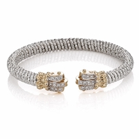 Alwand Vahan Sterling Silver, 14K Gold and Diamond Bracelet - ArtDeco Ends