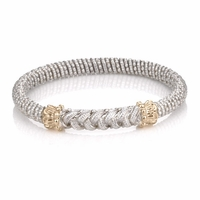 Sterling Silver & 14K Gold Braided Bracelet by Alwand Vahan