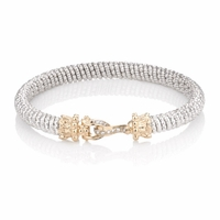 Alwand Vahan Sterling Silver 14k Gold Diamond Hook Bracelet 20896