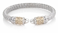 Alwand Vahan Sterling Silver and 14K Gold Bracelet - Shell Design