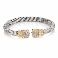 Sterling Silver Diamond Bangle Bracelet by Alwand Vahan - 215404