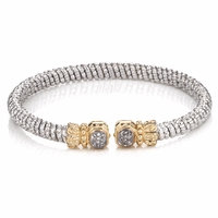 Alwand Vahan Sterling Silver Diamond Bangle Bracelet -21532