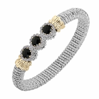 Alwand Vahan Bangle With Black Onyx & Diamonds