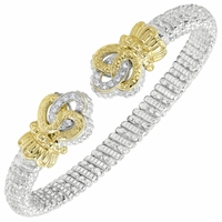 Alwand Vahan Sterling Silver & 14K Yellow Gold Bracelet with Swirl Ends