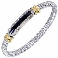 Alwand Vahan Sterling Silver & 14K Yellow Gold Diamond Bracelet with Black Onyx