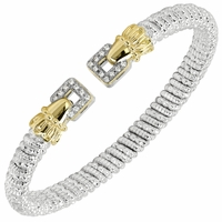 Alwand Vahan Sterling Silver & 14K Yellow Gold Diamond Bracelet with Square Ends