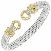 Alwand Vahan Sterling Silver & 14K Yellow Gold Le Cercle Diamond Bracelet