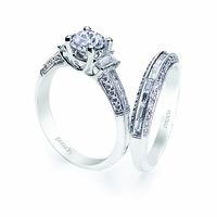 Vintage Style Diamond Wedding Set by Parade Design