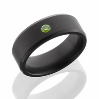 ARES Elysium Solid Black Diamond Ring with Green Diamond by Elysium