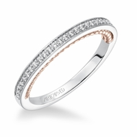 ArtCarved Rose Gold and White Gold Diamond Band