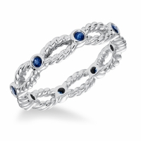 ArtCarved Sapphire Twisted Rope Band