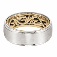 ArtCarved Inside and Out Wedding Band - Vine