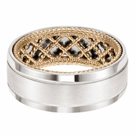 ArtCarved Inside and Out Wedding Band - Net Pattern