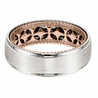 ArtCarved Inside and Out Wedding Band - Diamond Pattern
