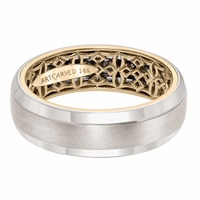 ArtCarved Inside and Out Wedding Band - Gaelic Pattern