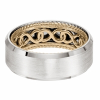 ArtCarved Inside and Out Wedding Band - Infinity Pattern