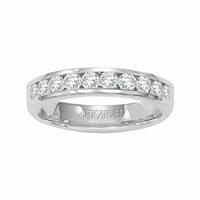 ArtCarved Palladium & Diamond Channel Set Band, .50ctw - Wild Orchid