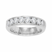 ArtCarved Palladium & Diamond Channel Set Band - .75ctw, Remembrance