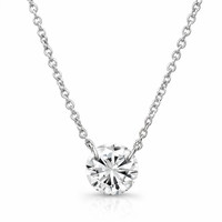 Bare Diamonds 1/3ct Diamond Necklace in 14K White Gold