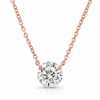Bare Diamonds 14K Rose Gold & 1/3ct Diamond Necklace