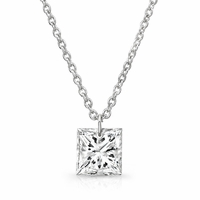 Bare Diamonds 14K White Gold & 3/8ct Princess Cut Diamond Necklace