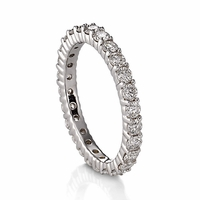 Belloria 18K White Gold & Diamond Eternity Band