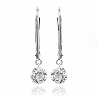 Dancing Diamond Earrings 1ctw