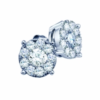 Diamond Cluster Earrings - .32ctw