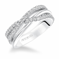 Diamond Crossover Anniversary Band by ArtCarved