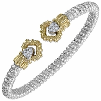 Vahan Golden Rays and Diamonds Bracelet, 4mm
