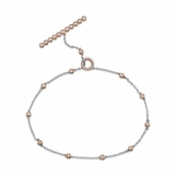 Diamond Two-Tone Toggle Bracelet